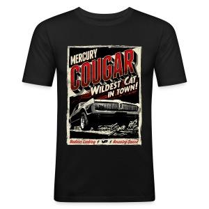 Cougar / Rot / Slim Fit T-Shirt - Männer Slim Fit T-Shirt