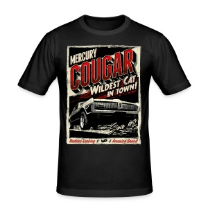 Cougar / Rot / Slim Fit T-Shirt - Männer Slim Fit T-Shirt