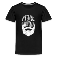 Shirts ~ Teenage Premium T-Shirt ~ Resting Itch Face - Funny Beard