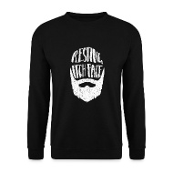 Hoodies & Sweatshirts ~ Men's Sweatshirt ~ Resting Itch Face - Funny Beard