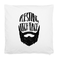 Other ~ Pillowcase 40 x 40 cm ~ Resting Itch Face - Funny Beard