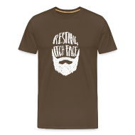 T-Shirts ~ Men's Premium T-Shirt ~ Resting Itch Face - Funny Beard