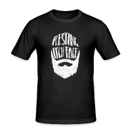 T-Shirts ~ Men's Slim Fit T-Shirt ~ Resting Itch Face - Funny Beard