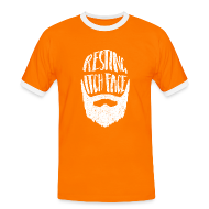 T-Shirts ~ Men's Ringer Shirt ~ Resting Itch Face - Funny Beard