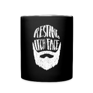 Mugs & Drinkware ~ Full Colour Mug ~ Resting Itch Face - Funny Beard