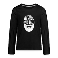 Long Sleeve Shirts ~ Teenagers' Premium Longsleeve Shirt ~ Resting Itch Face - Funny Beard