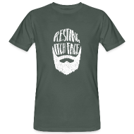 T-Shirts ~ Men's Organic T-shirt ~ Resting Itch Face - Funny Beard