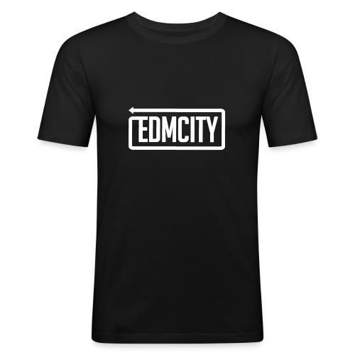 EDM City Slim Fit White Logo - slim fit T-shirt
