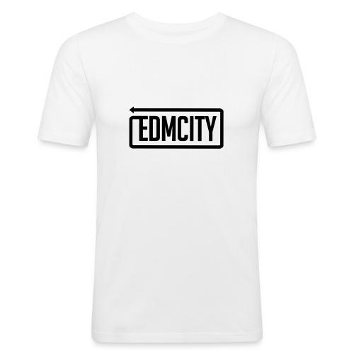 EDM City Slim Fit Black Logo - slim fit T-shirt