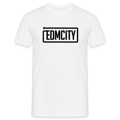 EDM City Normal T-Shirt Black Logo - Mannen T-shirt