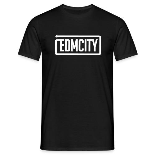 EDM City Normal T-Shirt White Logo - Mannen T-shirt