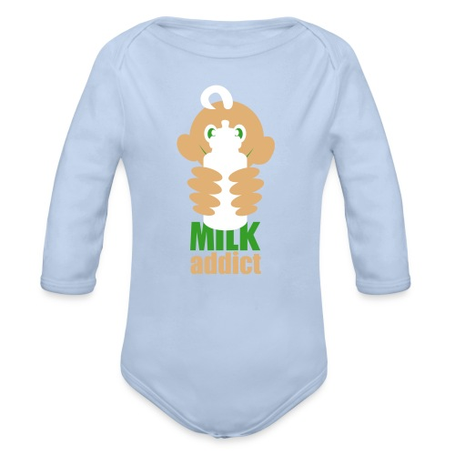 Milk addict Body I - Baby Bio-Langarm-Body