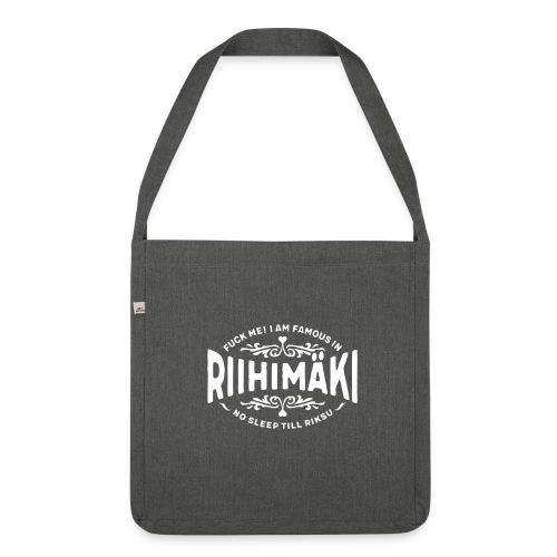 Riihimäki - Fuck Me! - Olkalaukku kierrätysmateriaalista