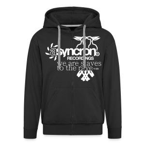 Zipper - ASYNCRON RECORDINGS - Männer Premium Kapuzenjacke