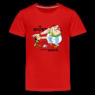 Tee shirts ~ T-shirt Premium Ado ~ Asterix & Obelix -  Asterix and Obelix boxing