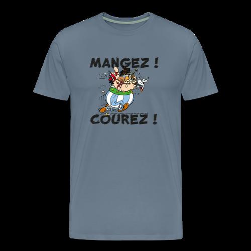 Asterix & Obelix - Obelix: Mangez! Courez! - T-shirt Premium Homme