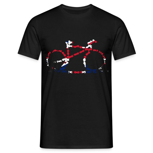 GB Cycling Chain Print Premium - Men's T-Shirt