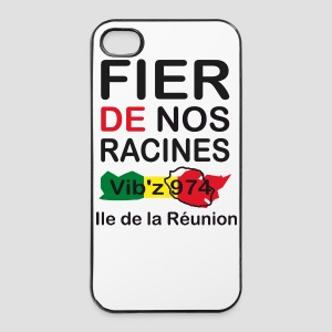 Coque iPhone 4/4S Fier de nos racine 974 - Réunion - Coque rigide iPhone 4/4s