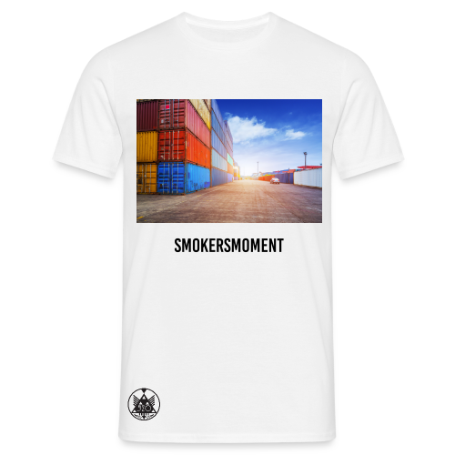 520 SMOKERSMOMENT - RE-UP @ THE PLUG - WHITE T-SHIRT - MEN - T-shirt herr