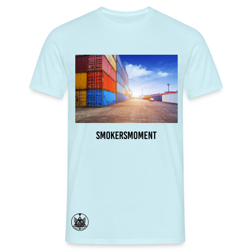 520 SMOKERSMOMENT - RE-UP @ THE PLUG - LIGHTBLUE T-SHIRT - MEN - T-shirt herr