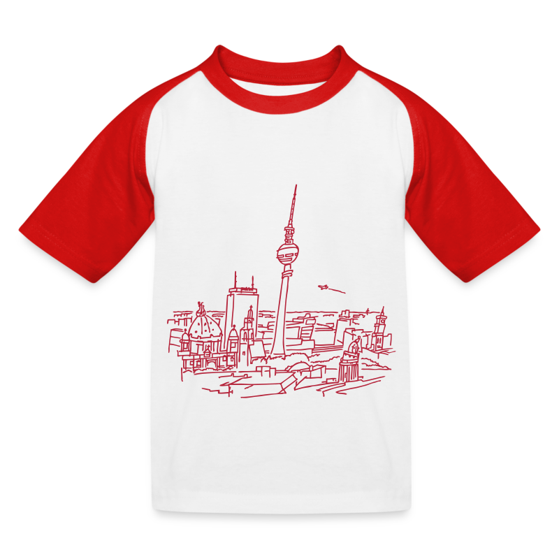 Berlin Panorama - Kinder Baseball T-Shirt