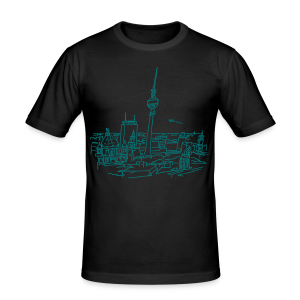 Berlin Panorama - Männer Slim Fit T-Shirt