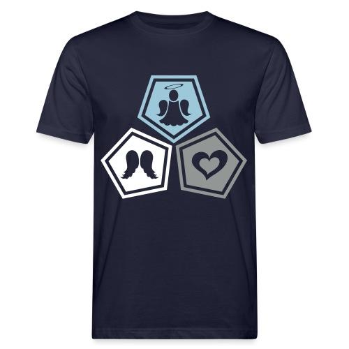 Tee shirt bio Homme Trio ange, ailes d'ange et coeur - Men's Organic T-Shirt