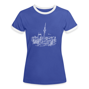 Berlin Panorama - Frauen Kontrast-T-Shirt