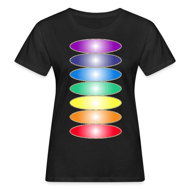 Tee shirt bio pour femmes Couleurs des chakras