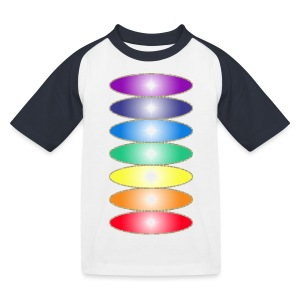 Tee shirt baseball Enfant Couleurs des chakras - Kids' Baseball T-Shirt