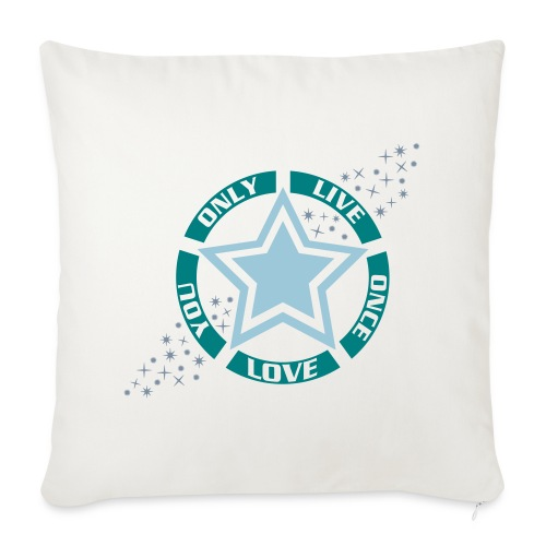 Housse de coussin décorative Live Love - Sofa pillowcase 17,3'' x 17,3'' (45 x 45 cm)