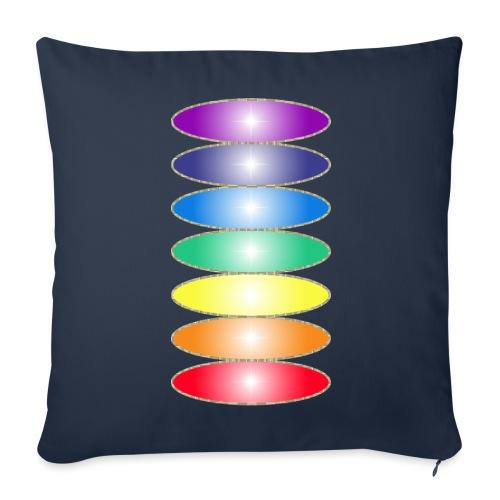 Housse de coussin décorative Couleurs des chakras - Sofa pillowcase 17,3'' x 17,3'' (45 x 45 cm)