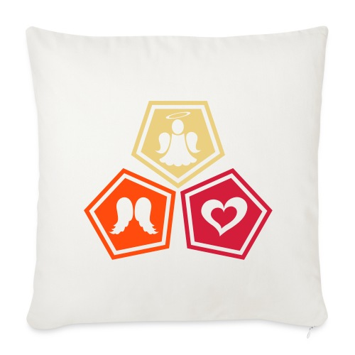 Housse de coussin décorative Trio ange, ailes d'ange et coeur - Sofa pillowcase 17,3'' x 17,3'' (45 x 45 cm)