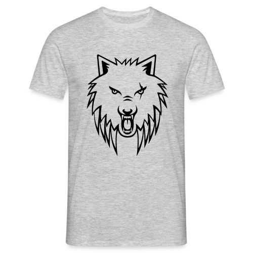 Apollo Wolf blackoutline T-shirt - Men's T-Shirt