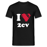 Tee shirts ~ Tee shirt Homme ~ I love 2cv