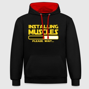 INSTALLING muscles Sweat-shirts - Sweat-shirt contraste