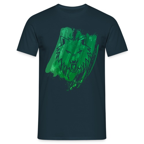 Apollo Wolf paint brush Green - Men's T-Shirt