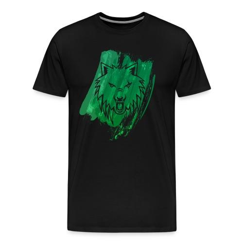 Apollo Wolf paint brush Green premium - Men's Premium T-Shirt