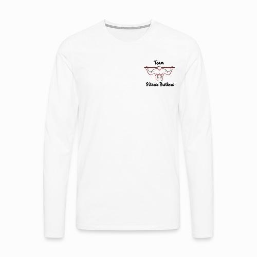Långärmad premium-T-shirt herr
