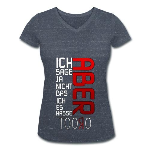 ABER - Frauen T-Shirt V-Ausschnitt - Frauen Bio-T-Shirt mit V-Ausschnitt von Stanley & Stella