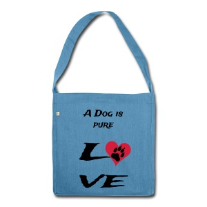 Pure love - Schultertasche aus Recycling-Material