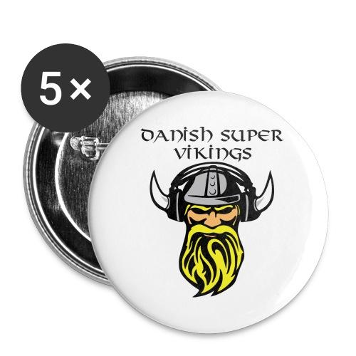 Danish Super Vikings Badges - Buttons/Badges stor, 56 mm (5-pack)
