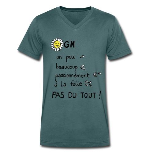 passionnément - T-shirt bio col V Stanley & Stella Homme