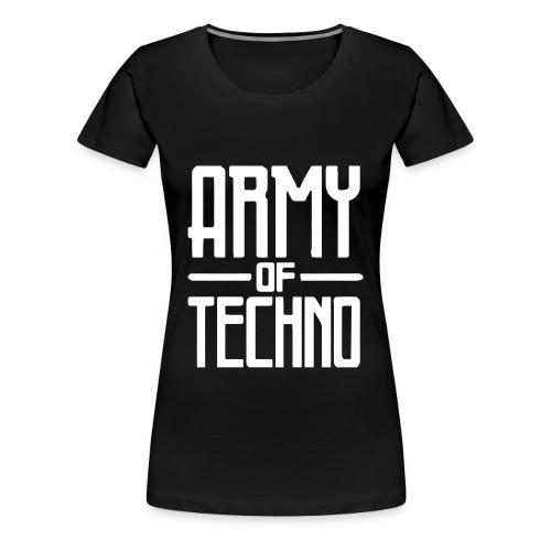 ARMY OF TECHNO LOGO PRINT // T-SHIRT GIRL - Frauen Premium T-Shirt