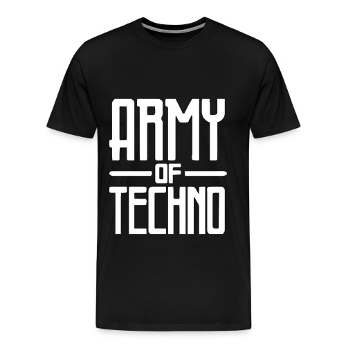 ARMY OF TECHNO LOGO PRINT // MEN - Männer Premium T-Shirt
