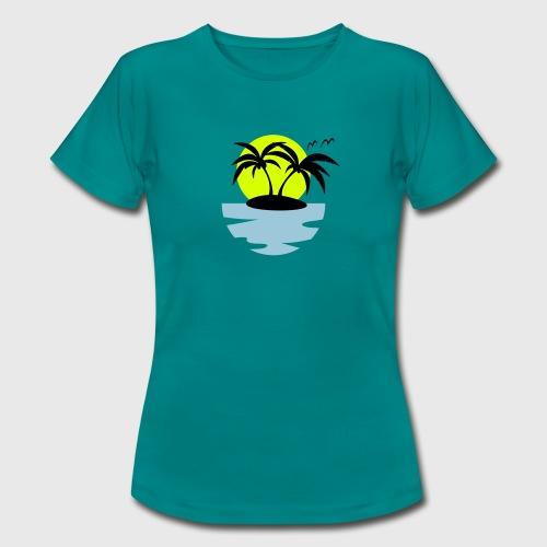 Tropical Island Women's T-Shirt  - Women's T-Shirt