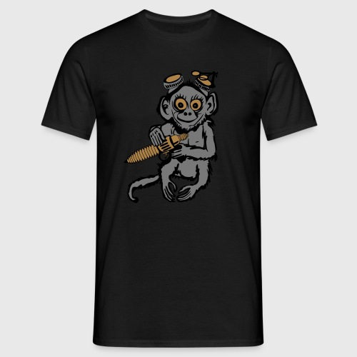 Steampunk Monkey Men's Premium T-Shirt - Men's T-Shirt