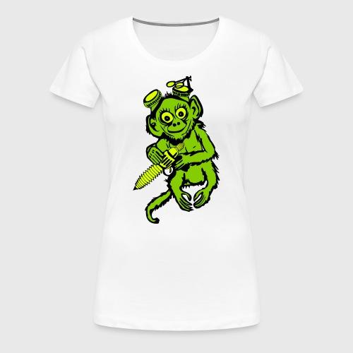 Steampunk Monkey Women's Premium T-Shirt - Women's Premium T-Shirt