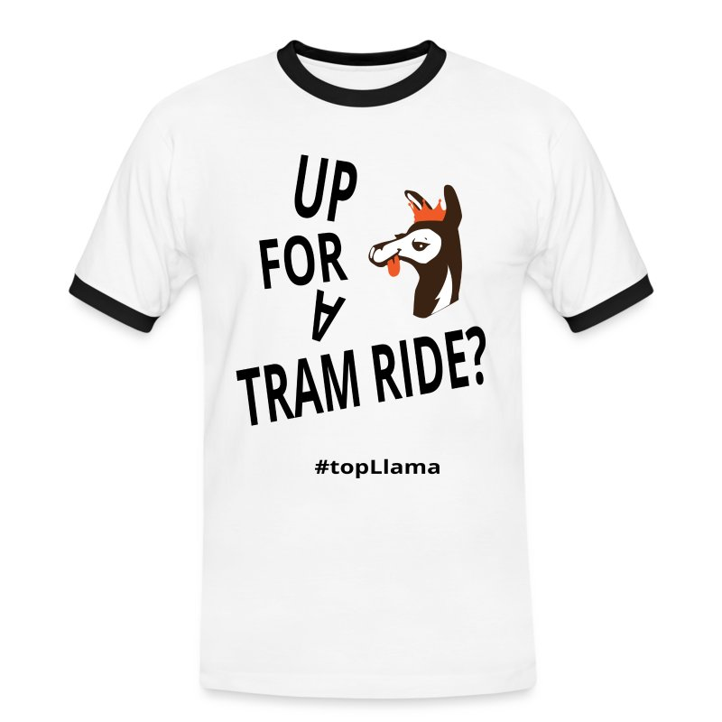 Tram Ride Long Sleeve Men's T-Shirt - Men's Ringer Shirt
