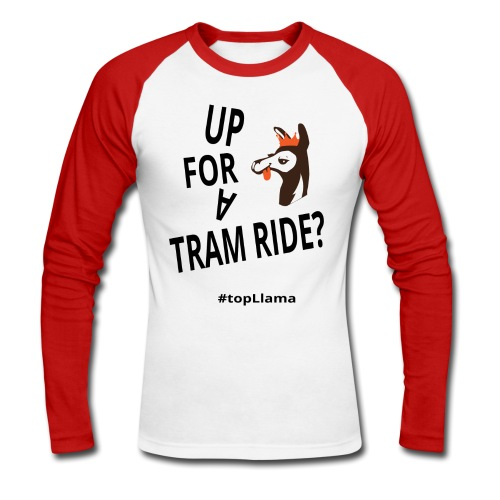 Tram Ride Long Sleeve Men's T-Shirt - Men's Long Sleeve Baseball T-Shirt